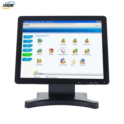 High quality True Flat capacitive Touch screen pos Monitor(Metal Stand)