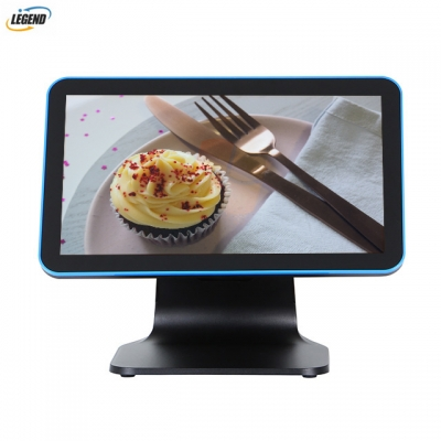 New product 15.6 inch true flat 10 points capacitive touch screen all in one POS terminal(Black color)