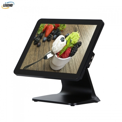 New product 15 inch true flat 10 points capacitive touch screen all in one POS terminal(Black color)