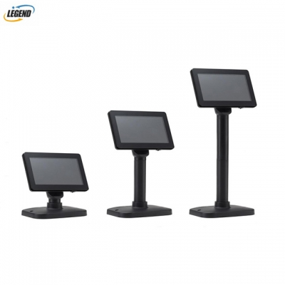 Pos system accessories 7 Inch 2*20 VFD pole display customer display