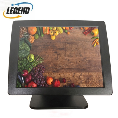 15inch all in one Pos Terminal Cash Register Capacitive Touch screen POS with Metal Alloy Housing(Black color)