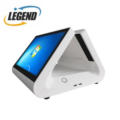 New Arrived T690 12inch pos machine all in one pos dual screen pos retail system(White Color)